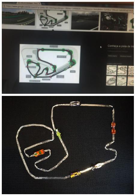 Com a penas durex prateado, vc pode fazer todas as pistas de corrida do mundo.